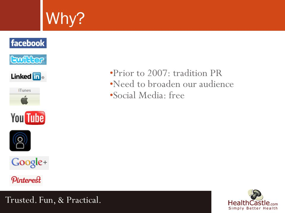 Social Media Trusted. Fun, & Practical.