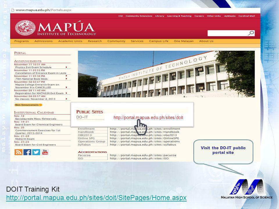 http://portal.mapua.edu.ph/sites/doit/SitePages/Home.aspx