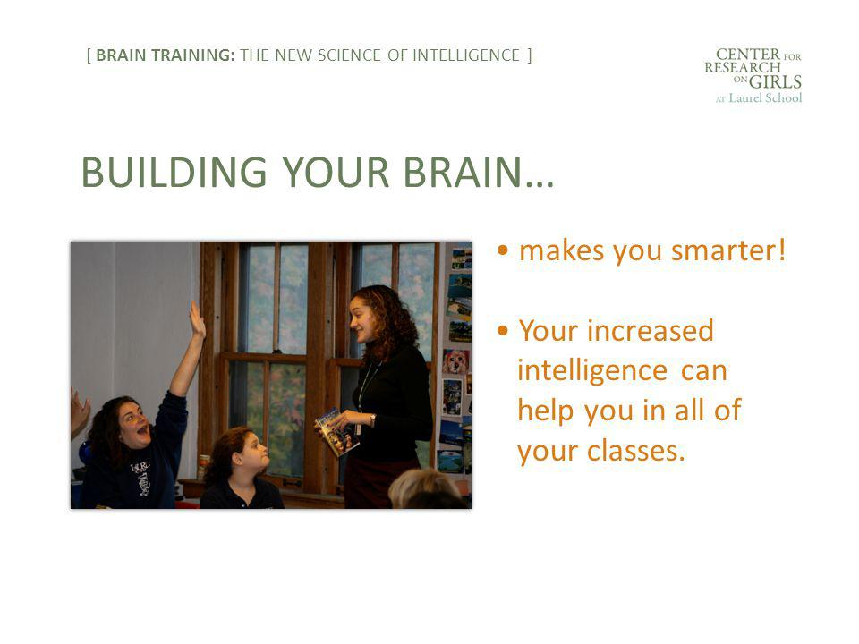 makes you smarter. Your increased intelligence can help you in all of your classes.