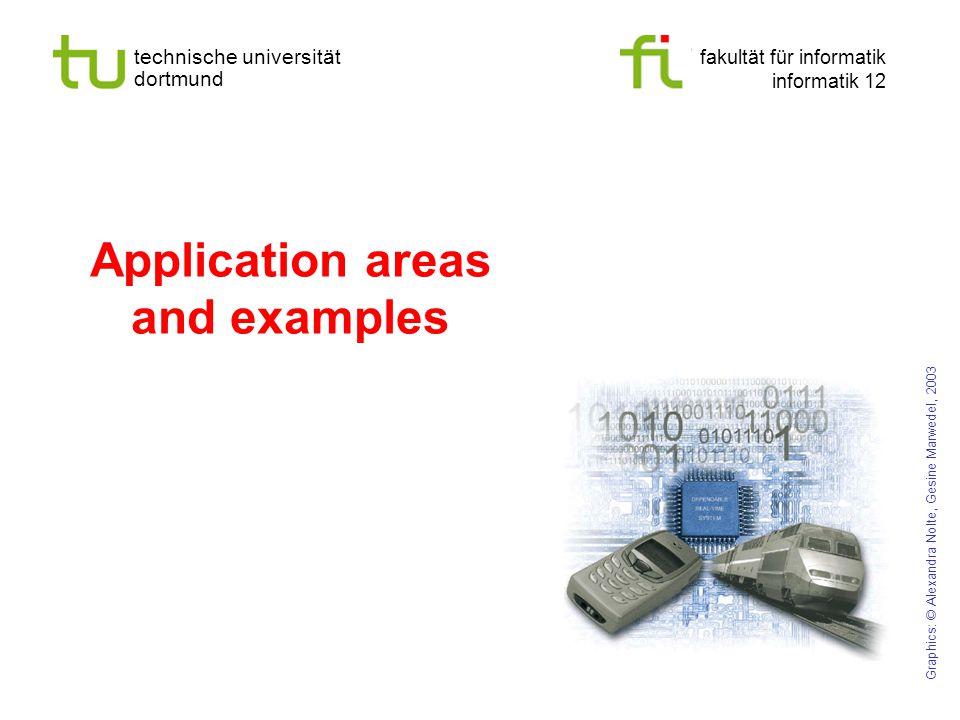 technische universität dortmund fakultät für informatik informatik 12 Application areas and examples Graphics: © Alexandra Nolte, Gesine Marwedel, 2003