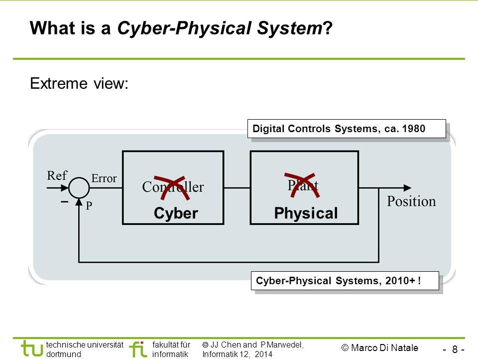 - 8 - technische universität dortmund fakultät für informatik  JJ Chen and P.Marwedel, Informatik 12, 2014 What is a Cyber-Physical System.