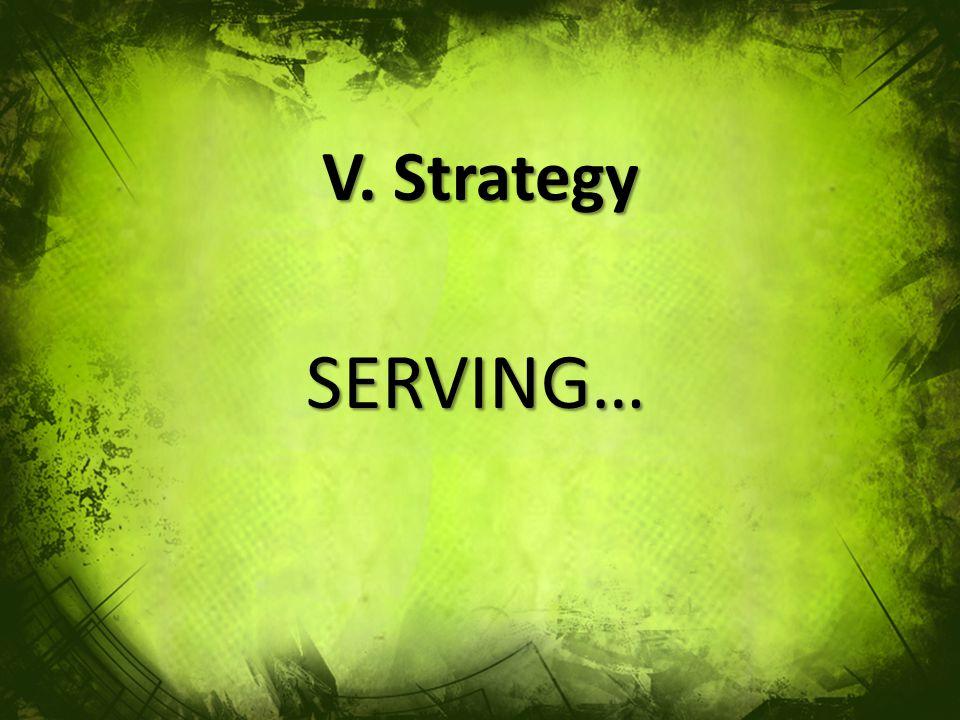 V. Strategy SERVING…