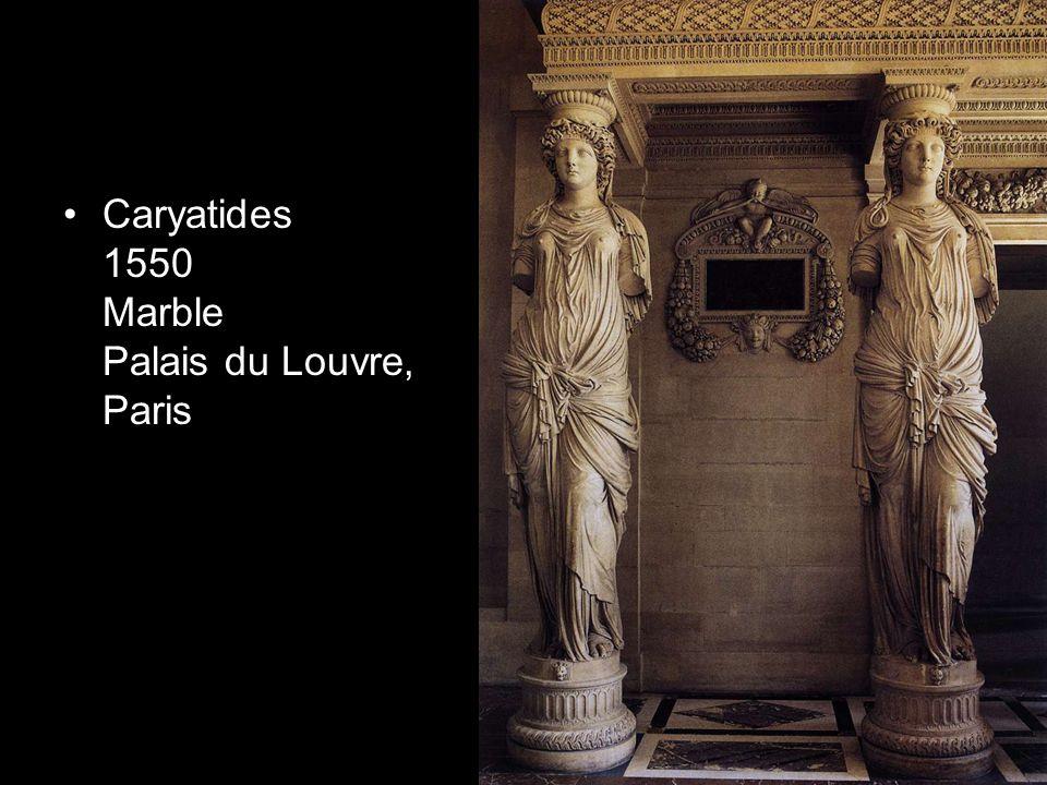 Caryatides 1550 Marble Palais du Louvre, Paris