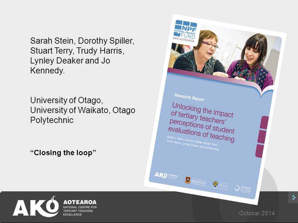 October 2014 Sarah Stein, Dorothy Spiller, Stuart Terry, Trudy Harris, Lynley Deaker and Jo Kennedy.