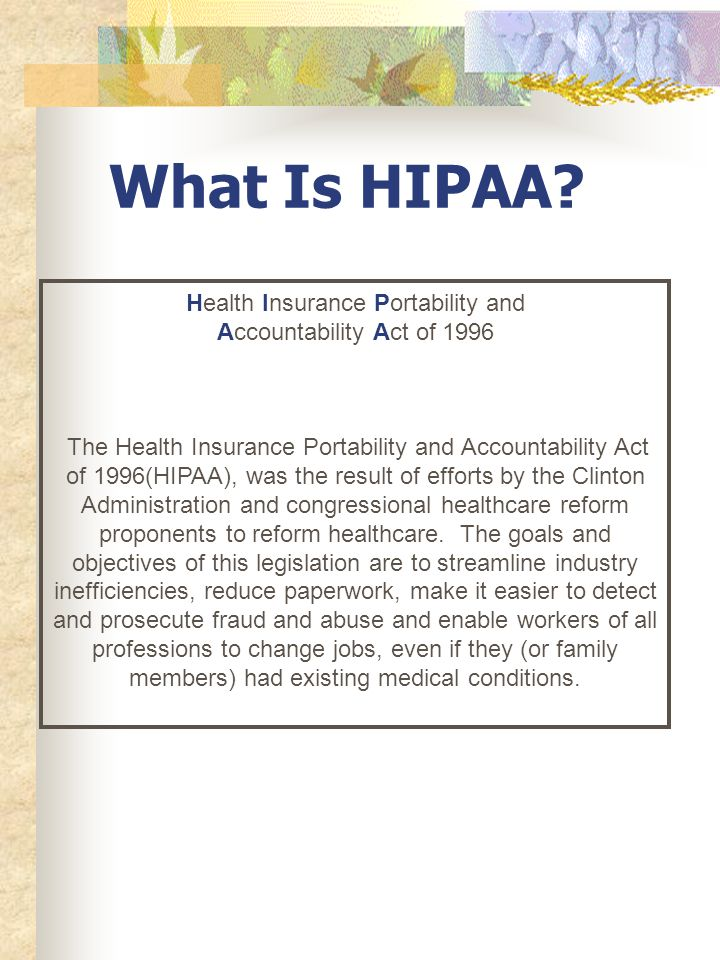 Independent Contractor Orientation HIPAA