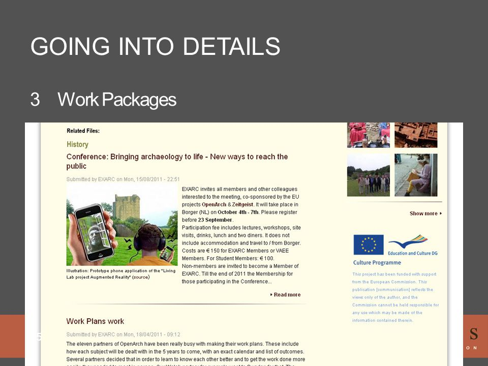 GOING INTO DETAILS 25 3Work Packages