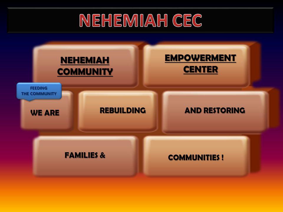 REBUILDING NEHEMIAHCOMMUNITY COMMUNITIES ! FAMILIES & EMPOWERMENT CENTER AND RESTORING WE ARE FEEDING THE COMMUNITY FEEDING