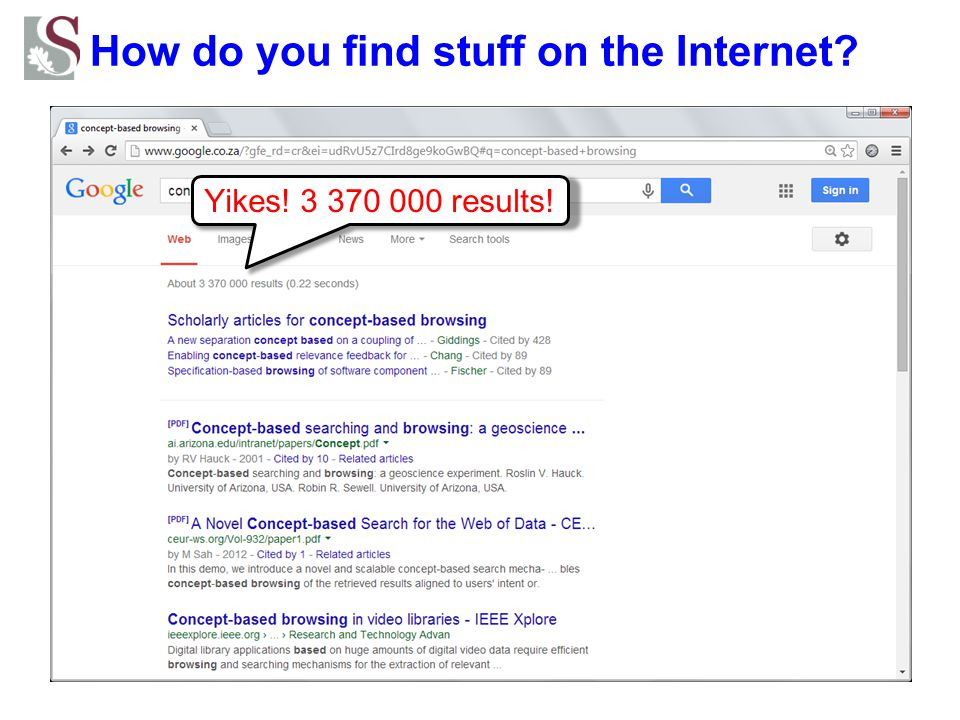 How do you find stuff on the Internet? concept-based browsing query     lattice
