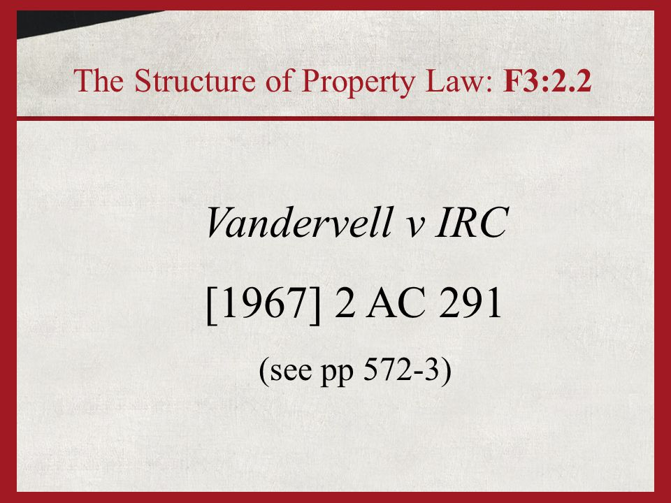 Vandervell v IRC: Initial position A B1 - A holds shares on Trust for B1