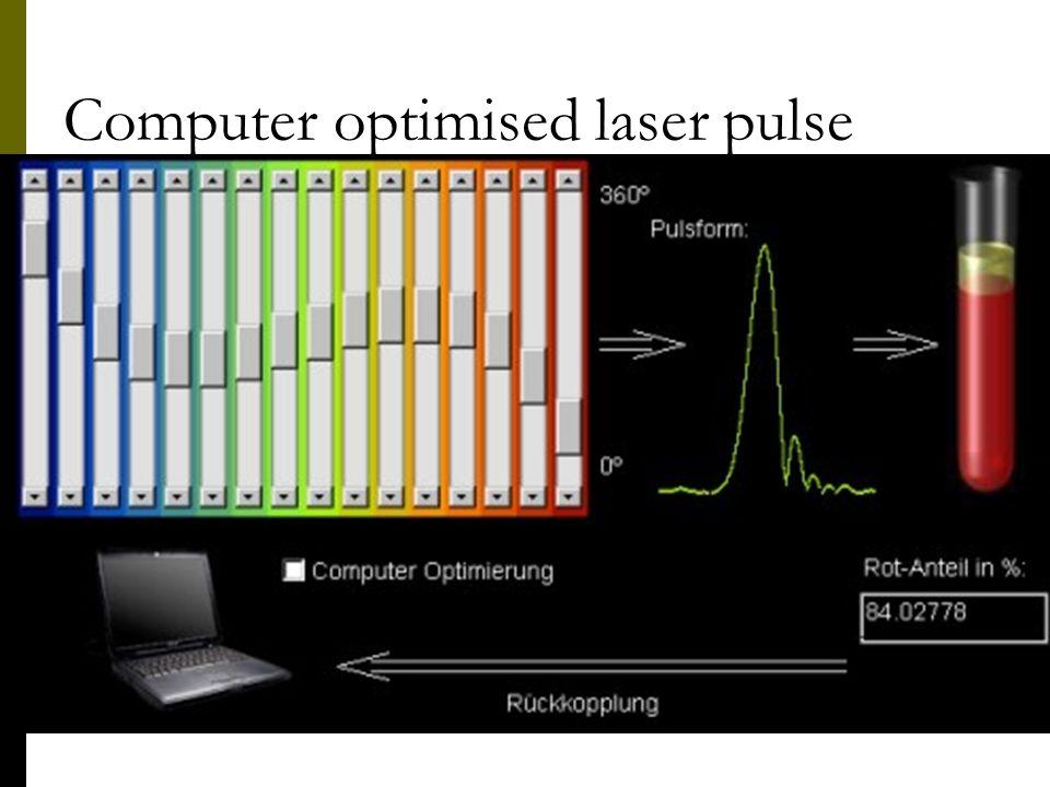 Computer optimised laser pulse