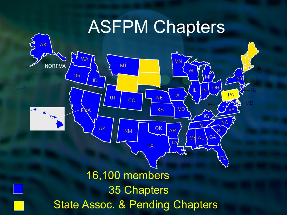 3 ASFPM Mission Mitigate the losses, costs, and human suffering caused by flooding.