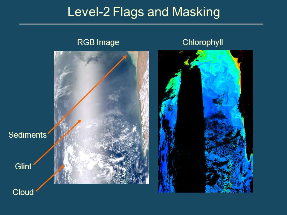 ChlorophyllRGB Image Glint Sediments Cloud Level-2 Flags and Masking