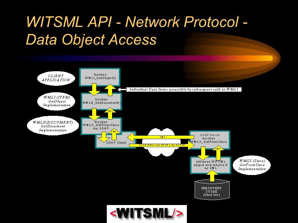 WITSML API - Network Protocol - Data Object Access