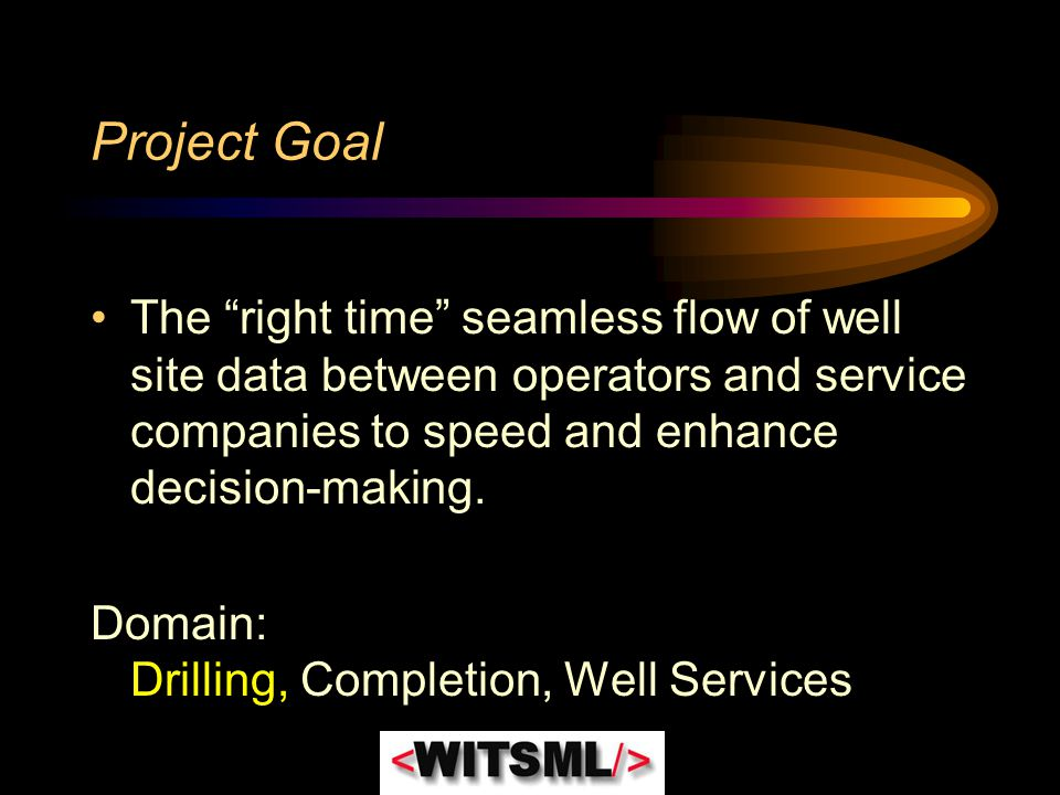 """Project Goal The """"right time"""" seamless flow of well site data between operators and service companies to speed and enhance decision-making. Domain: Dr"""