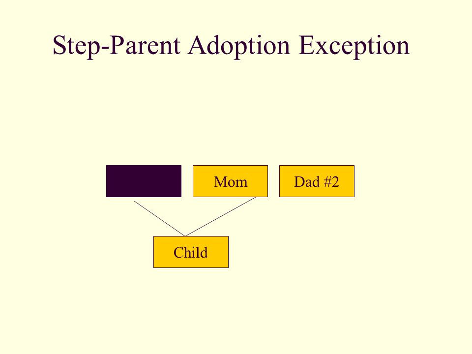 Step-Parent Adoption Exception DadMom Child