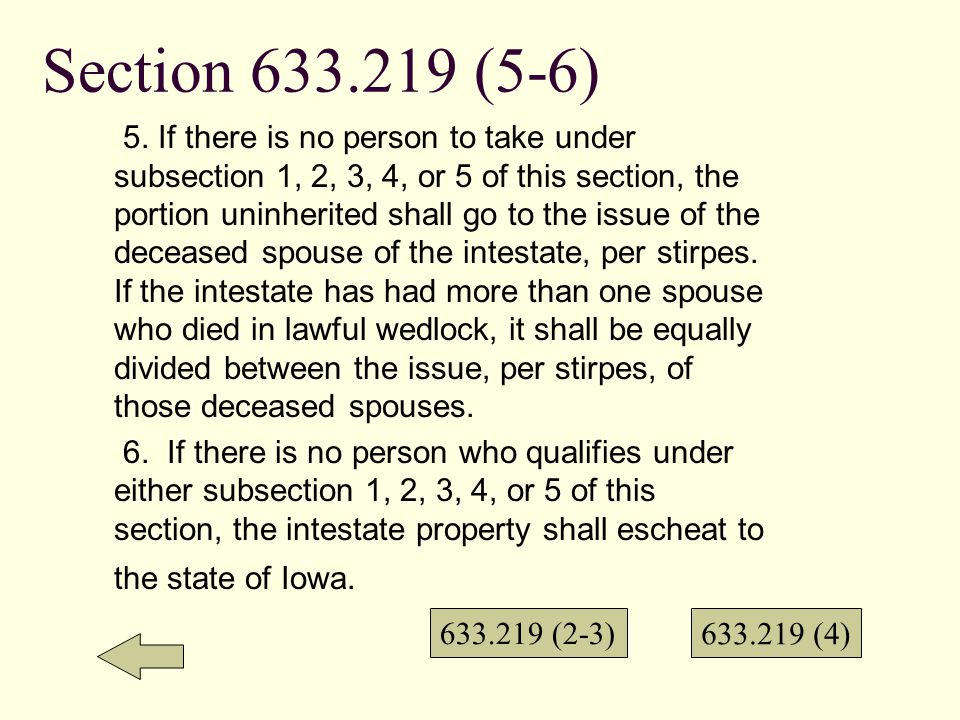 Section 633.219 (4) AND (5) 4.