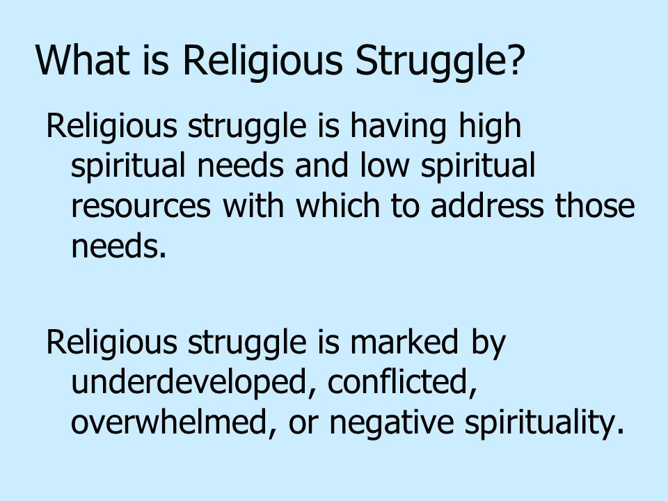What is Religious Struggle.