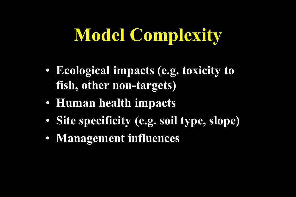 EIQ Risk = toxicity x potential for exposure E.g.