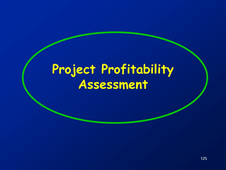 125 Project Profitability Assessment