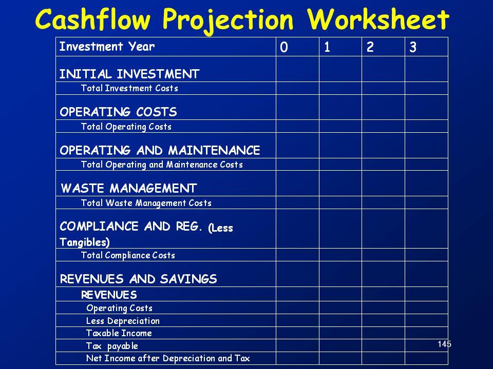 145 Cashflow Projection Worksheet