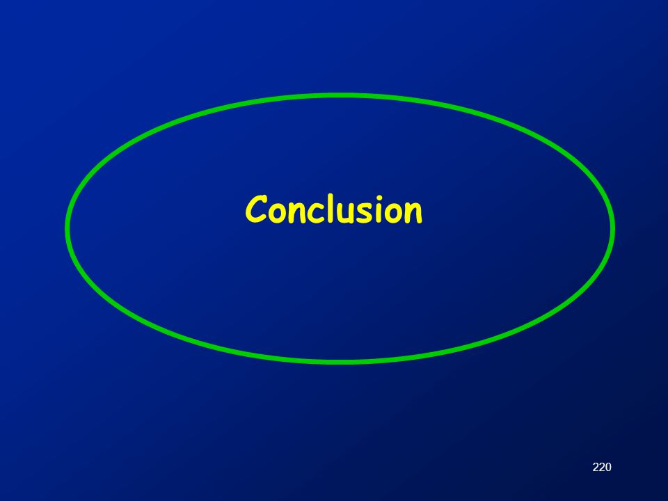 220 Conclusion