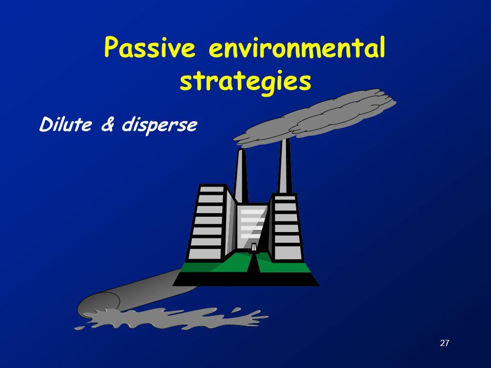27 Passive environmental strategies Dilute & disperse