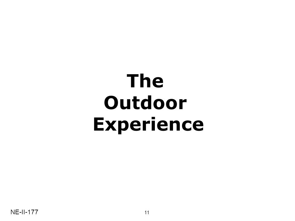 The Outdoor Experience NE-II-177 11