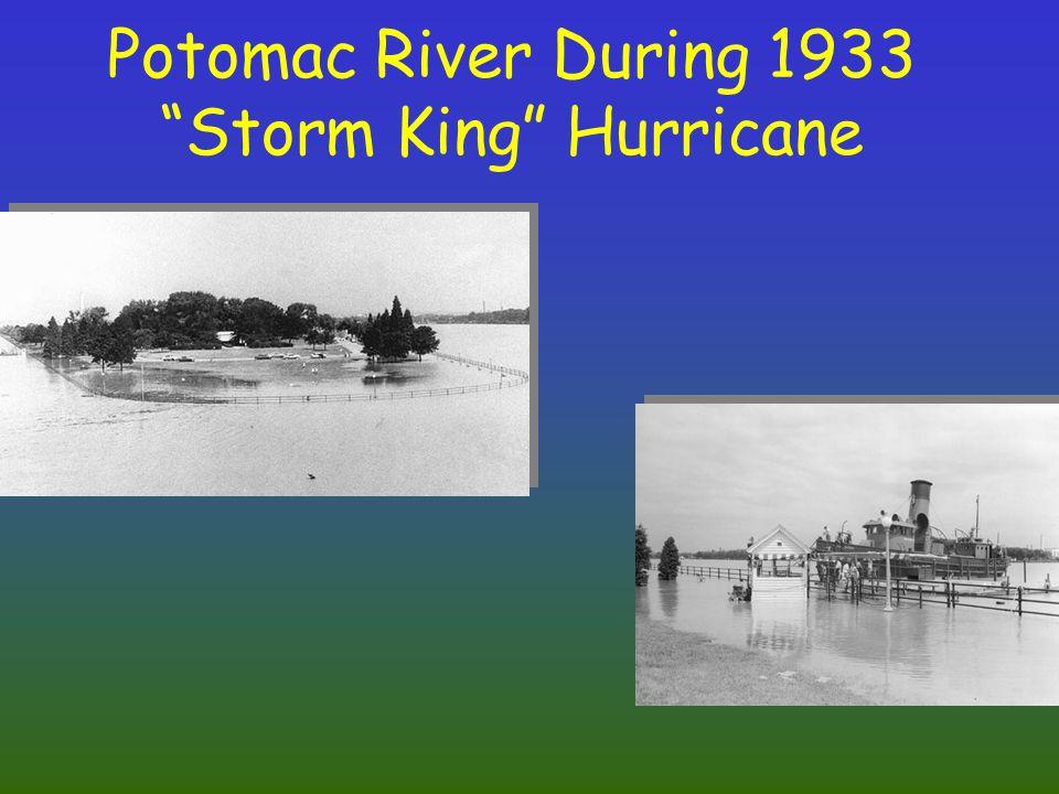 Potomac River During 1933 Storm King Hurricane