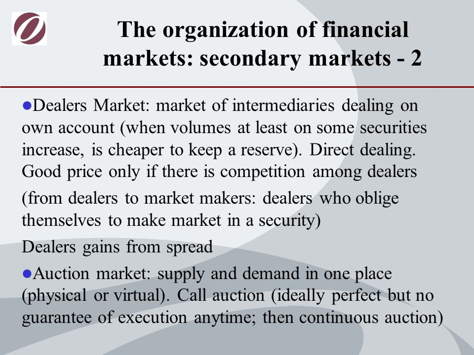 The Exchanges – Consolidation (Recent Developments in the Structure of Securities Markets A.Cybo Ottone, C.