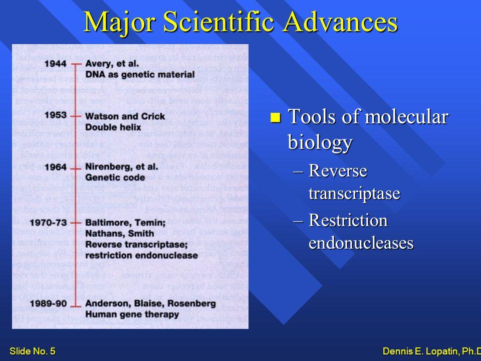 Slide No. 5 Dennis E. Lopatin, Ph.D..