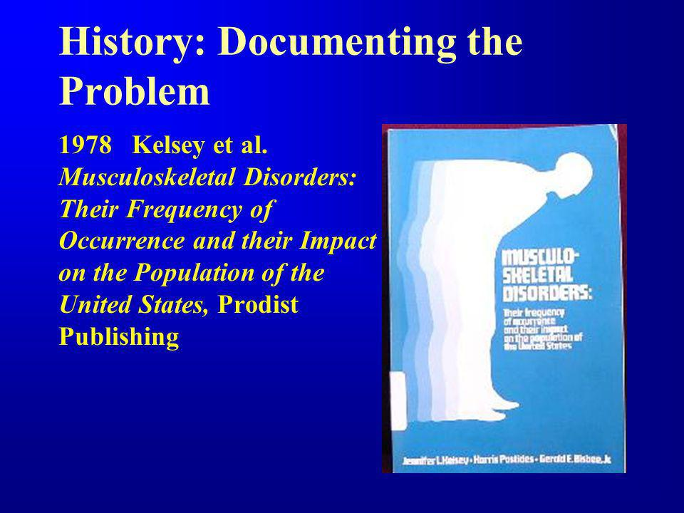 History: Documenting the Problem 1978 Kelsey et al.