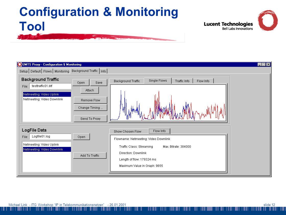 Michael Link - ITG Workshop IP in Telekommunikationsnetzen - 26.01.2001slide 12 Configuration & Monitoring Tool