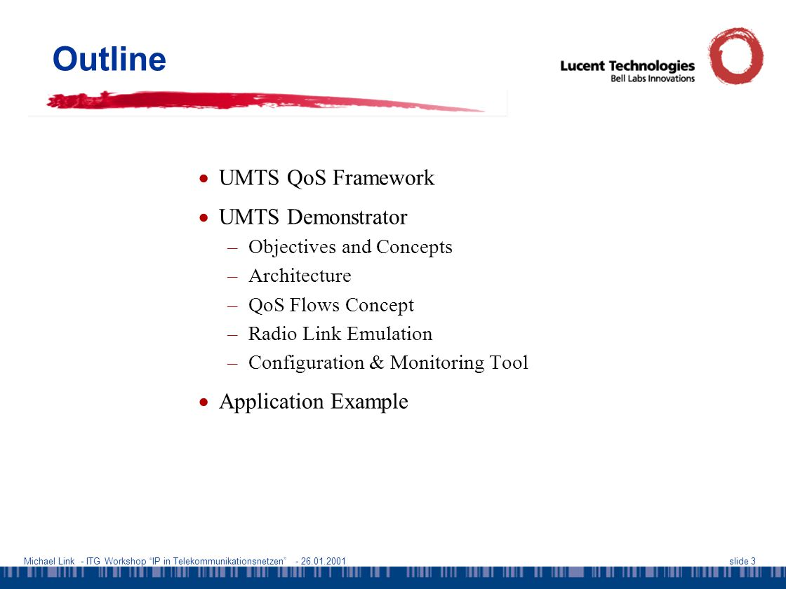 Michael Link - ITG Workshop IP in Telekommunikationsnetzen - 26.01.2001slide 24 References  S.