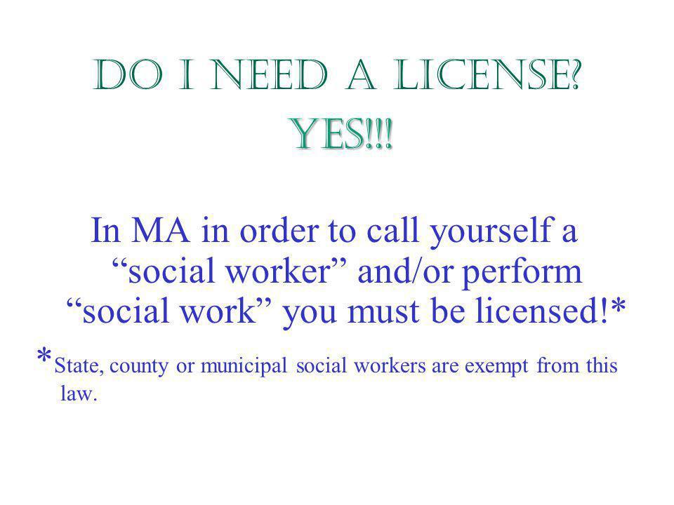 Do I still need a license if I'm a Macro major.YES!.
