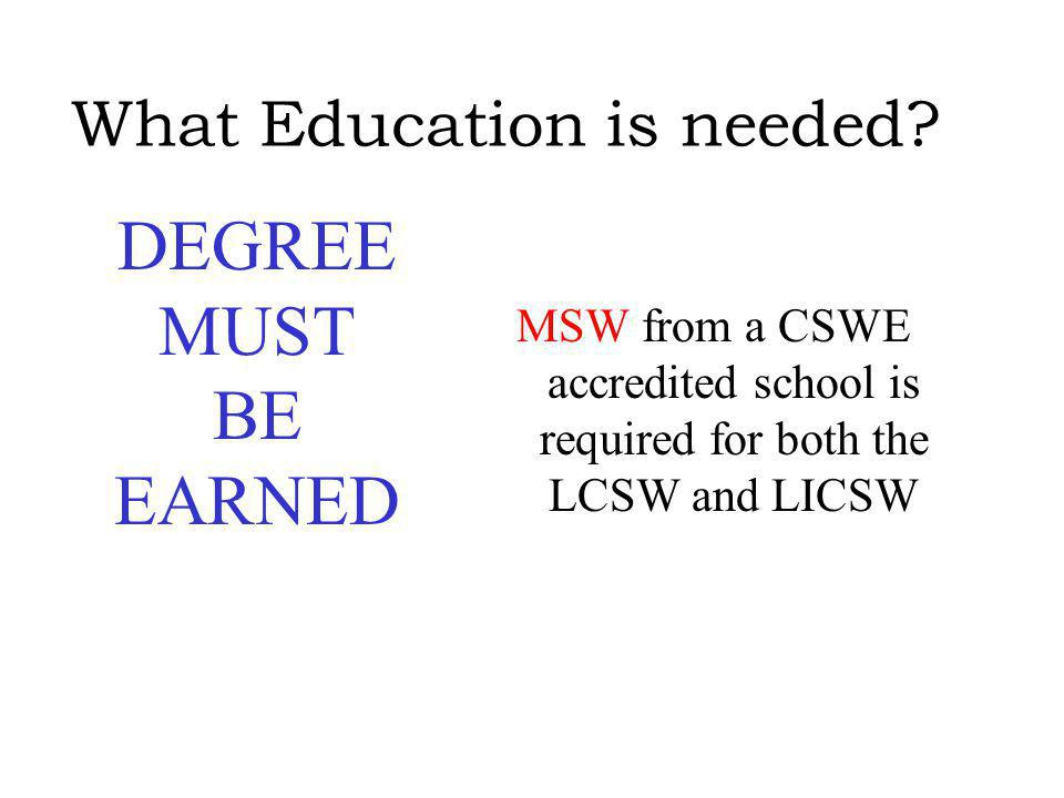 What Supervision is needed to become licensed.