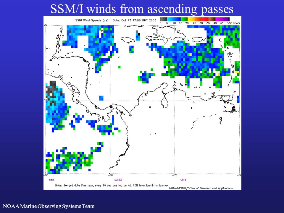 SSM/I winds from descending passes http://manati.orbit.nesdis.noaa.gov/doc/ssmiwinds.html NOAA Marine Observing Systems Team