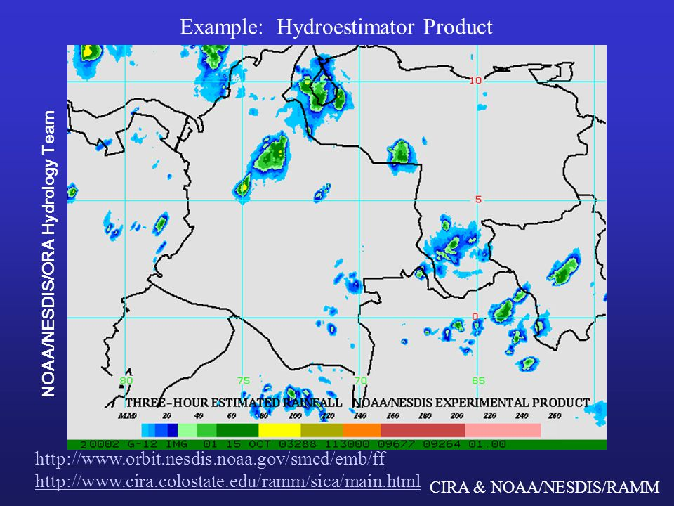 CIRA & NOAA/NESDIS/RAMM Precipitation products from microwave Precipitation absorption and scattering characteristics Microwave spectrum Total Precipitable Water (TPW) Cloud Liquid Water (CLW) Rain Rate (RR)