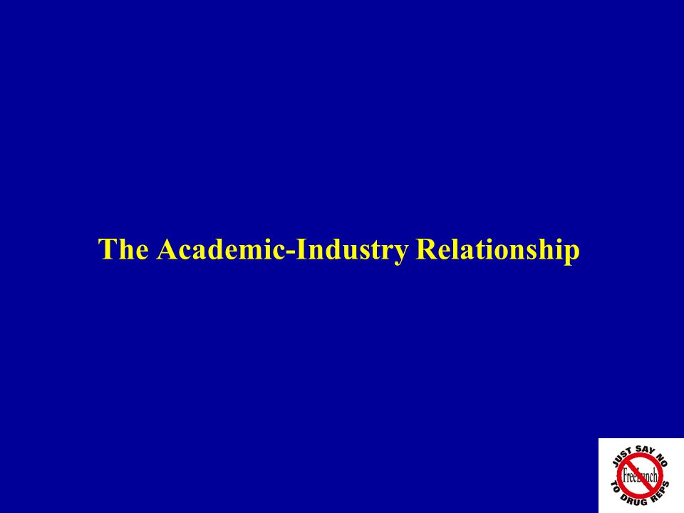 The Academic-Industry Relationship