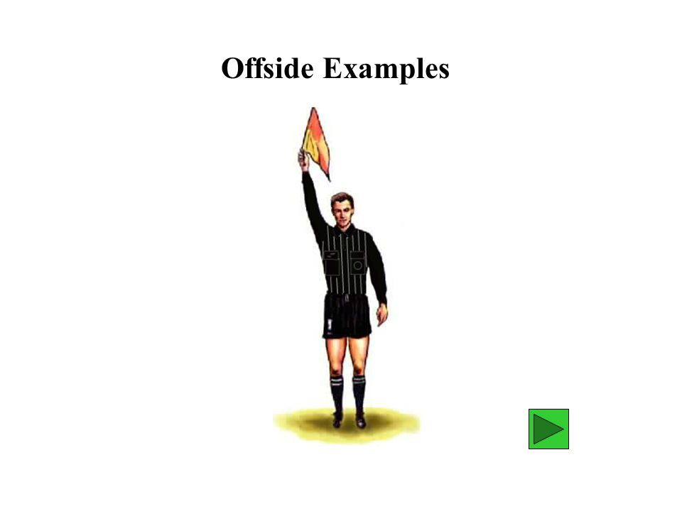 Assistant Referee Position B A The assistant referee is responsible for making the determination AR