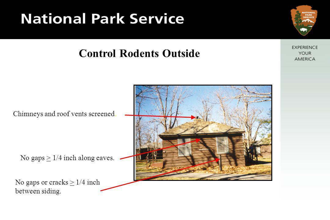 No gaps > 1/4 inch along eaves. No gaps or cracks > 1/4 inch between siding.