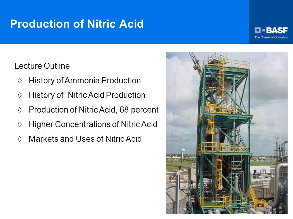 History of Ammonia Production  Free ammonia was prepared for the first time in 1774 by J.