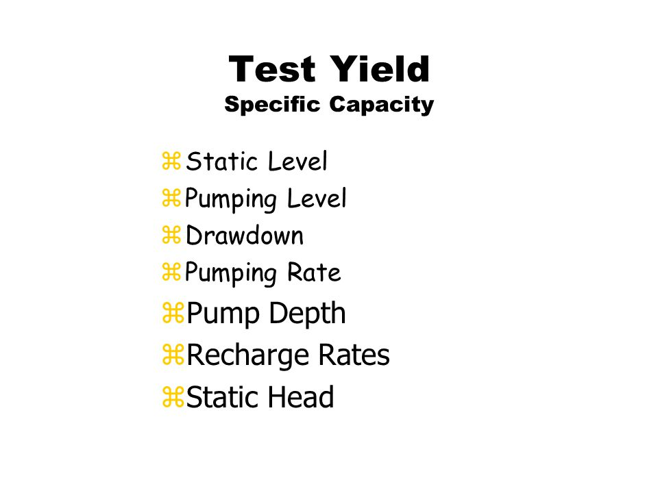 Test Yield zCodes and regulations.