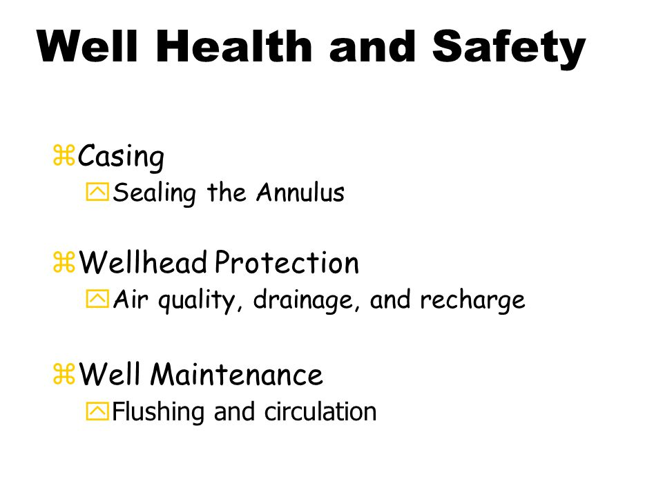 Water Wells for Health