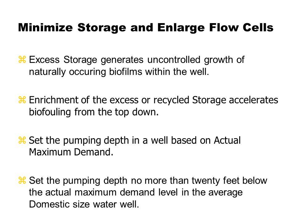 Storage type wells require periodic maintenance.