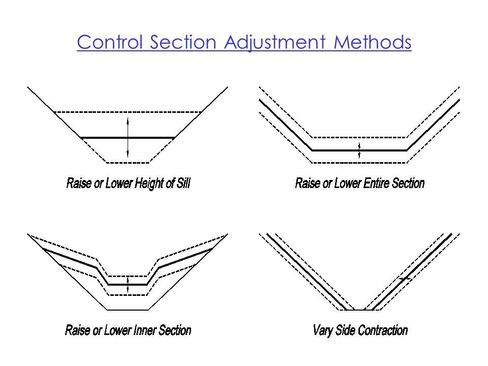 Control Section Adjustment Methods