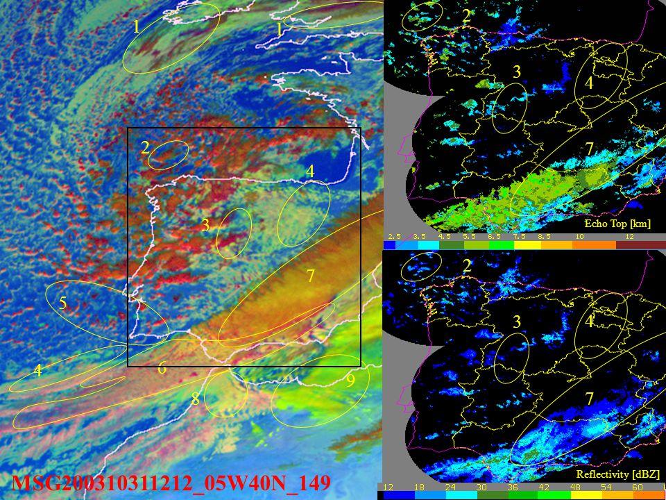 MSG200310311212_05W40N_149 1. Multilayer mature cloud.