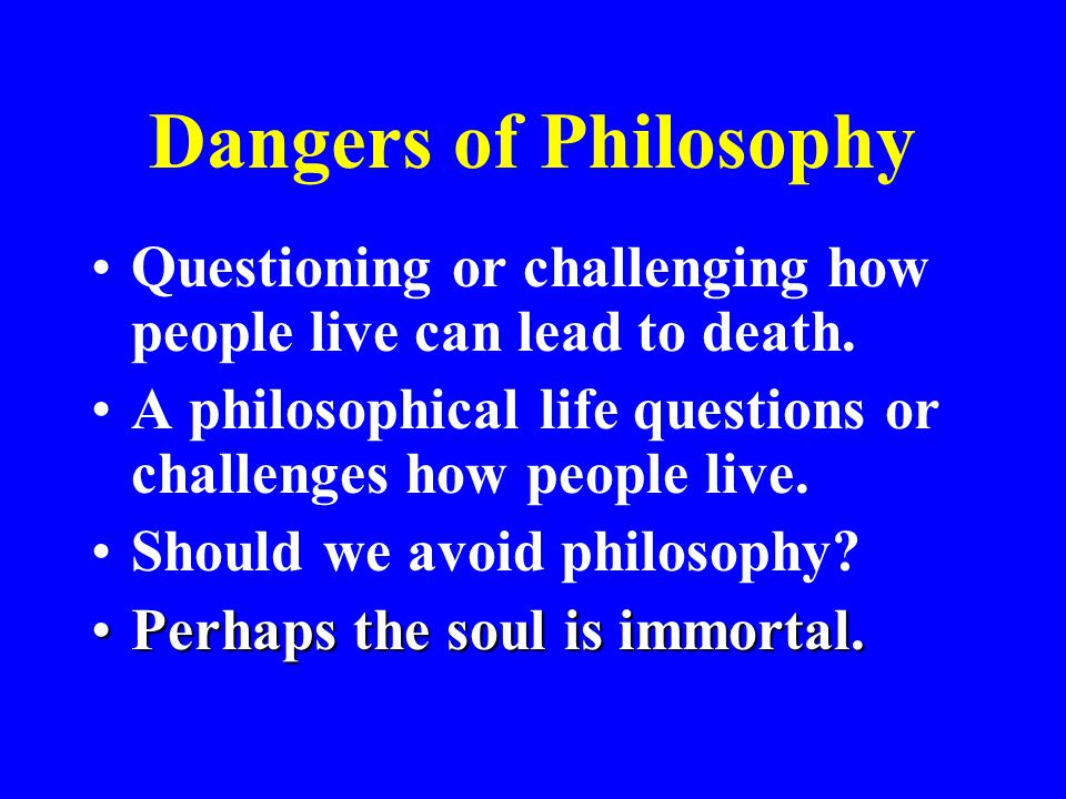 Is the Soul Immortal.What did Socrates think (Ap.