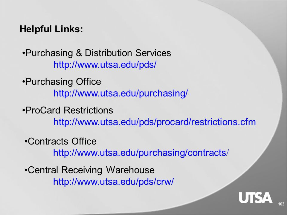 102 PBO/PB4 Point Plus With Purchasing Rules and Regulations DE 678 Procard Compliance Training AM 535 Procard Refresher Training AM 537 Purchasing From HUB Vendors AM 554 University Contracts: Processes & Procedures AM 541 Purchasing From HUB Vendors AM 554 Training Classes in MyTraining
