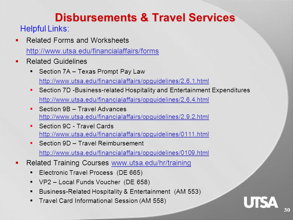 Disbursements & Travel Responsibilities  Approve reimbursement requests  To pay for goods/services that do not typically require a purchase order be processed in advance of the commitment, such as memberships, publications, registration fees, etc.