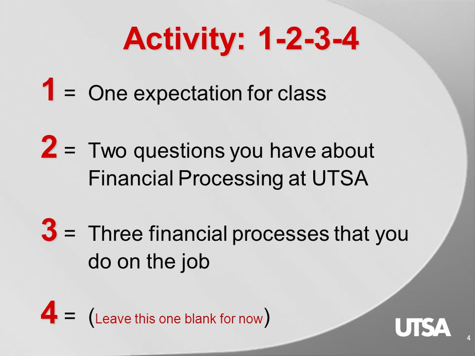 14 Accounting Services  Training Course utsa.edu/hr/trainingutsa.edu/hr/training  Understanding the Statement of Accounts (AM 506)  Forms and Worksheets http://www.utsa.edu/financialaffairs/accounting/forms.cfm Helpful Links: